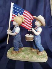 New ListingHomco 1997 Denim Days * Fourth Of July * #1530 figurine.