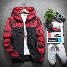 Autumn Fashion Mens Hoodies Wind Breaker Hooded Coat Loose Jacket Outwear Parka