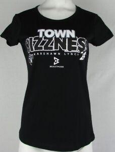 "Oakland Raiders Women Short Sleeve ""Town Bizness"" #24 Marshawn Lynch Shirt NFL M"
