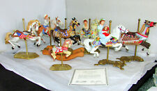 Estate Lot 7 American Carousel Horse Figurines Tobin Farley by Willitts And More
