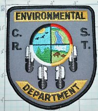 SOUTH DAKOTA, CHEYENNE RIVER SIOUX TRIBE CRST ENVIRONMENTAL DEPT POLICE PATCH