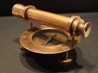 Antique Vintage Style Brass Surveyors Compass Telescope Instrument