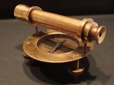 Antique Vintage Style Brass Surveyors Compass Telescope Instrument