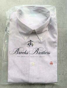 Brooks Brothers Milano Red & White Squares Shirt Size M No 426