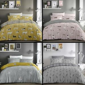 Animal Print Duvet Cover Sets,Dogs,Cats,Giraffe,Leopard,Great Value Free P&P