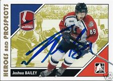 Josh BAILEY Signed 08 Heroes and Prospects Card SPITS