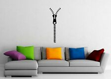 Wall Sticker Vinyl Decal Modern Style Home Decor Living Room Zipper ig1288