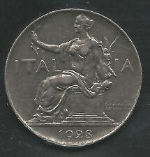 ITALY,  1928-R,  1 LIRA, NICKEL,  KM#62,  EXTRA FINE