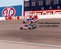 JEFF BURTON #99 DALE JARRETT #88 1998 ROCKINGHAM 8X10 PHOTO NASCAR WINSTON CUP