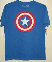 Marvel Comics Captain America Comics Classic Shield T-Shirt New Large Blue