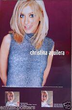 "Christina Aguilera ""1st Album"" U.S. Promo Poster -Wearing a Snake Skin Print Top"
