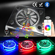 USB RGB LED Cooler Cooling Fan with Bluetooth Controller for PS4 Laptop Notebook