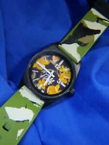 Neff Daily flowers camouflage green silacone band RN 129493 LADIES WATCH A15