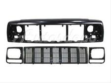 For 97-01 JEEP CHEROKEE SE/SPORT HEADER PANEL GRILLE HEADLIGHT DOOR BEZEL 4PC