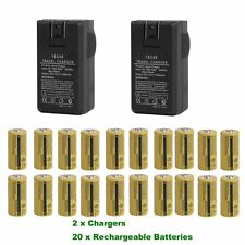 20pcs Rechargeable Batteries & 2 Chargers Kit For Netgear Arlo Security Camera U