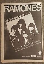Ramones final de la Siglo 1980 edición anuncio Completo páginas 3 x 42 cm mini