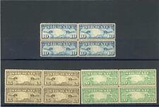 United States 1926-7  Scott# C7-9  mint Blocks of 4 NH