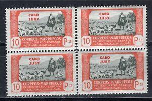 ESPAÑA CABO-JUBY 1944 EDIFIL 151** BLOQUE DE 4
