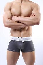 Mens Lonjo 007 Aussie Bum Style Square Cut Swim Swimming Boxer Trunks UK POST