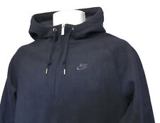 Nuevo NIKE ropa deportiva NSW FIT Therma Sudadera Polar Con Capucha Azul Marino