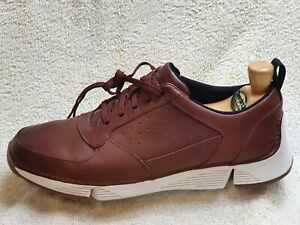 Clarks Trigenic mens Comfort shoes Leather Brown/White UK 9 G EUR 43 US 10