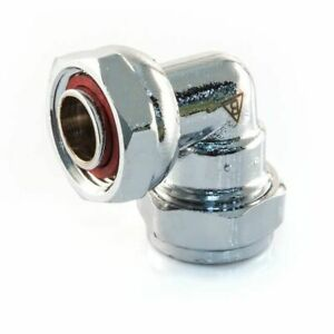 """NEW TAP CONNECTOR - CHROME PLATED  15 mm x 1/2"""" bent   Plumbing"""