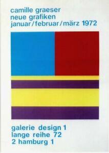 Original vintage poster CAMILLE GRAESER ART EXPO GERMANY 1972