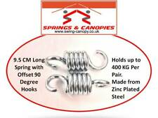 pair of 9.5cm Heavy duty suspension hook springs for 2-3 seat Garden Swing Chair