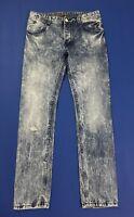 Desigual jeans uomo usato W30 tg 44 slim destroyed vintage boyfriend denim T4499