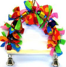 807 Bonka Bird Toys Bowtie swing parrot cage toy parakeet cockatiel conure