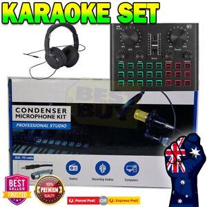 Audio Stereo Sound Card Live Broadcast For Phone Computer Karaoke Singing V8 PLU
