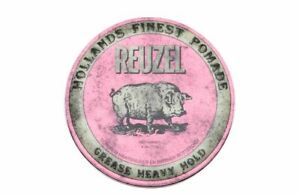 Reuzel Pomade Pink Heavy Hold Grease 4oz