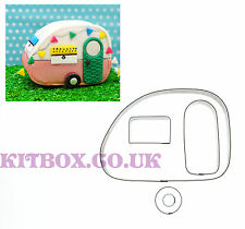 Vintage 3D Caravan - Perfect for a Cake Topper, Sugarcraft and Cake Decoration