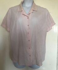 Tamaño 20, AMARANTO, Rosa Manga Corta Camisa a Cuadros Top/, pre-Amado, más tamaño