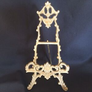Vintage Brass Easel Picture/Photo/  Stand Ornate Art Nouveau Style 24 Cm