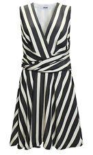 MSGM ITALY  Kleid in schwarz/offwhite gestreift GR. IT 40 D 34 / S  *  NEU