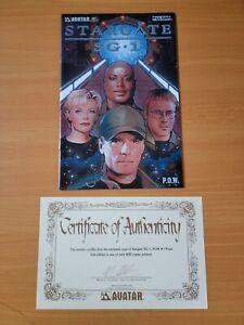 Stargate SG-1: POW #1 Prism Foil 1/400 w/ COA ~ NEAR MINT NM ~ 2004 Avatar