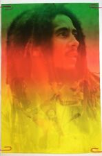 Bob Marley Collage Poster Pin-Up Yellow Photo Picture Guitar Singing On Stage