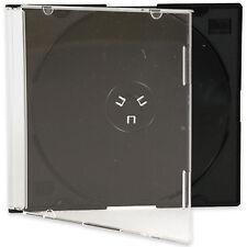 25 x Slimline gioiello 5.2 mm casi per 1 disco con vassoio NERO-confezione da 25
