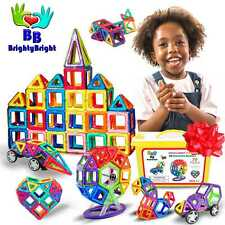 3D Magnetic Blocks for Kids to Learn Shapes Colors STEM Toys Deluxe 70 Pc Set