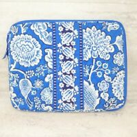 Vera Bradley Laptop Tablet Organizer Blue Lagoon Quilted Fabric Floral