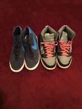 Nike trainers two pairs one Black the other Grey size 5.5 women's