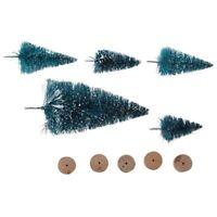 5pcs de Mini arbol de Navidad Artificial con Copo de nieve Decoracion del o M2C7