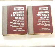1988-1991 Complete Set Motor Import Repair Shop Service Manual Car Light Truck