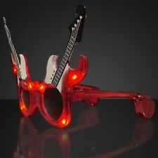 Rave Red Rock Guitar Sunglasses Shades - Party, Concerts, Novelty Gifts New