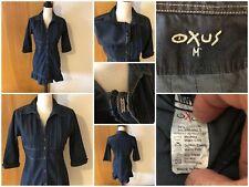 Oxus Industries Jr Misses Med 3/4 Sleeve Stretch Mini Dress Tunic Top