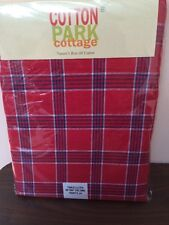 """July 4th Tablecloth 60"""" x 84"""" Oblong Cotton Park Cottage Red White & Blue"""