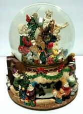 Kirkland Christmas Deck the Halls Musical Water Snow Globe w/ Rotating Base