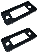 Pair Black Anodized Aluminum Low Side Marker Bezels For 1970-1977 Ford Bronco