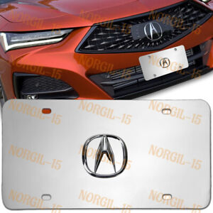 For Acura 3D Logo Stainless Steel License Plate Frame 1pcs Brand New Authentic